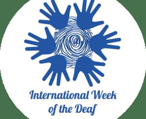 Logo of International Week of the Deaf