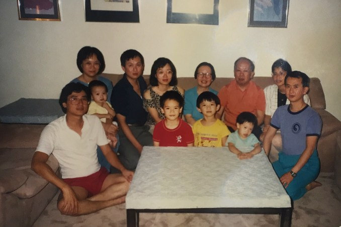 Terrence when he was with his family in Canada