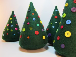 Button Christmas Trees by Ena Green Designs £10