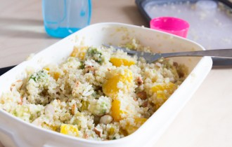 Salade de quinoa à l'orange et avocat vegan