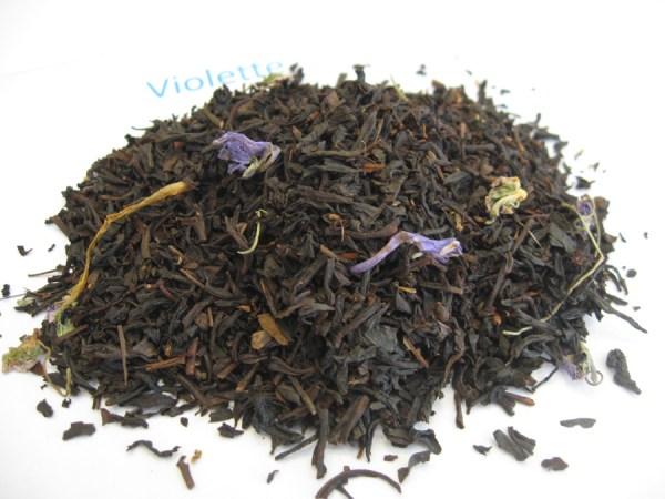 Violette - Thé noir aromatisé - en aparthé