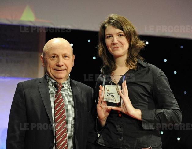 Trophée du commerce - mai 2015 - en aparthé lauréat du trophée de la vitrine commerciale