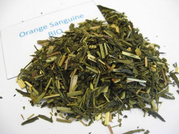 Orange sanguine BIO - Thé vert aromatisé - en aparthé