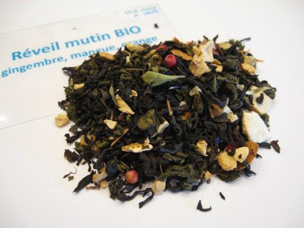 Réveil mutin BIO - thé noir et vert - en aparthé - Boutique en ligne