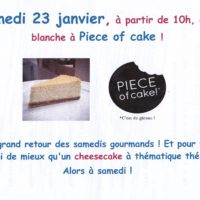 Samedi gourmand Piece of Cake - en aparthé - Boutique de thé à Lyon