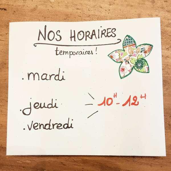 horaires pendant le confinement - en aparthé Lyon - Boutique en ligne