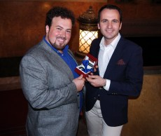 Stefan Pop with Lucian Enasoni at the National Romanian Opera in Timisoara - October 2013