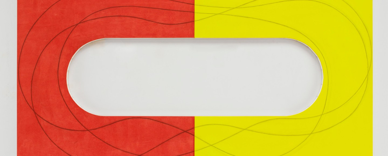 Red/Yellow Extended Frame par Robert Mangold