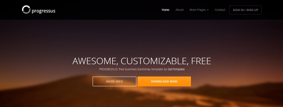 Progressus - Best Bootstrap Templates 2014