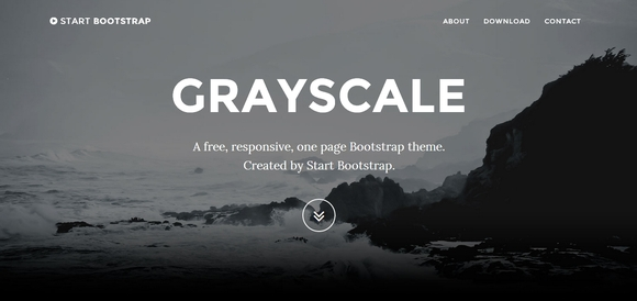 Grayscale - Free Bootstrap Templates 2014