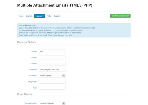 Email with Multiple Attachments