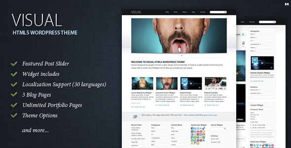 Collection of Best HTML5 WordPress Themes of 2012