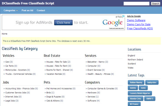 PHP Classified Scripts