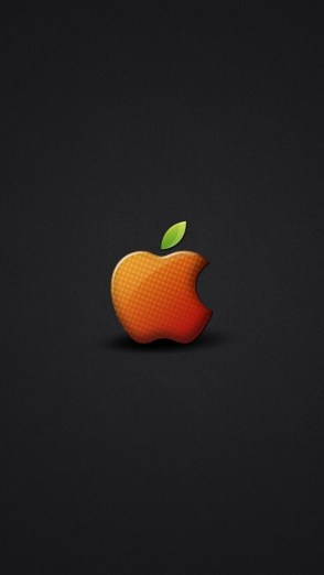 HD Abstract iPhone 5 Wallpaper- orange apple logo