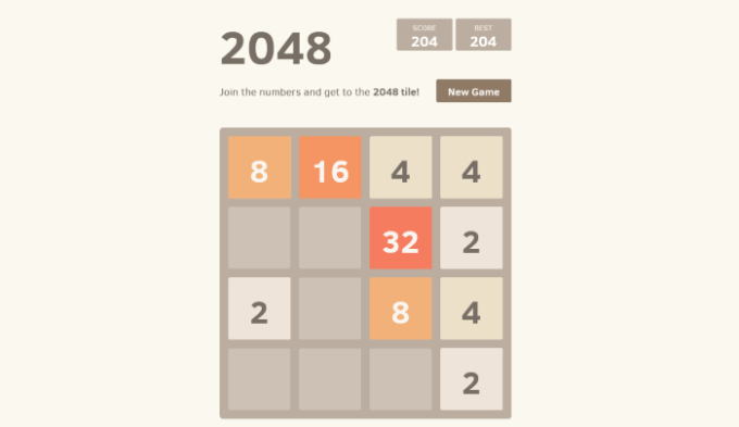 2048 open source html5 game