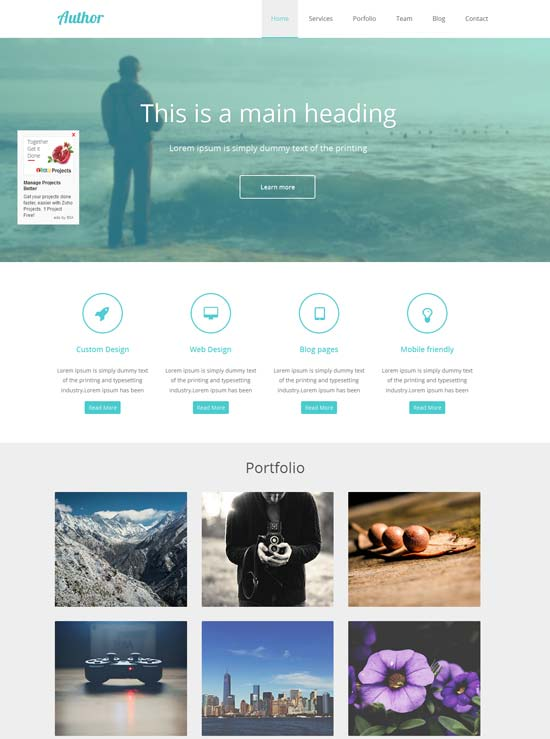 Agency-Author-Portfolio-Flat-Responsive-Web-Template