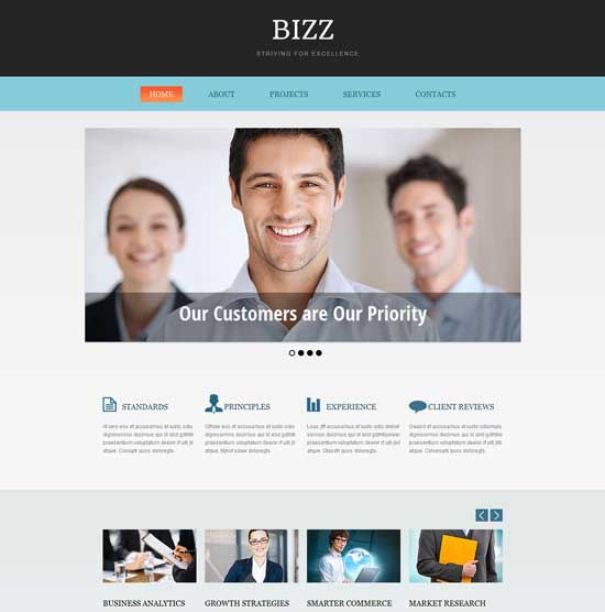 Free Business Consulting HTML5 CSS3 Templates