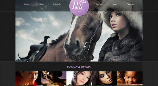 Free Photography HTML5 CSS3 Website Template