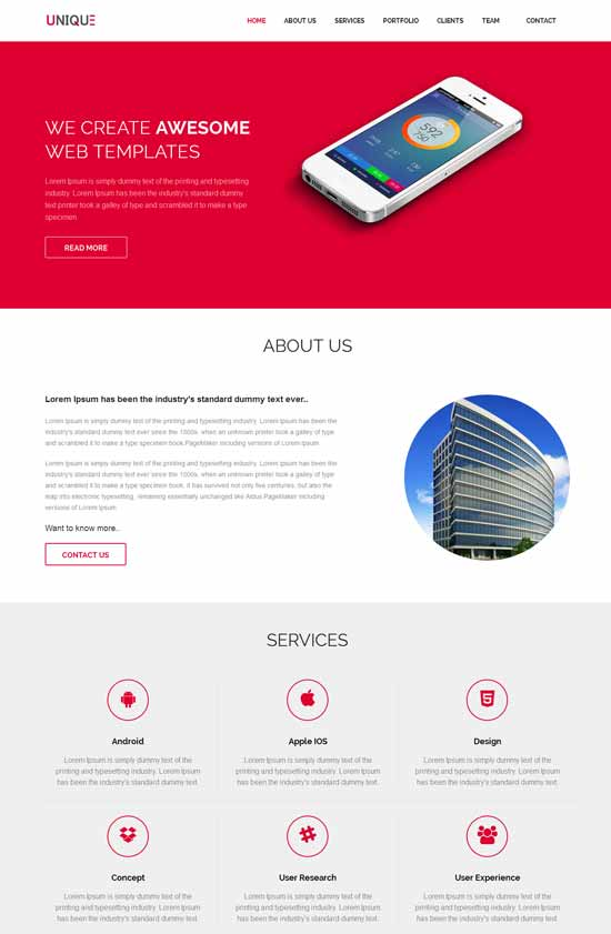 Unique-Free-Responsive-HTML5-Template