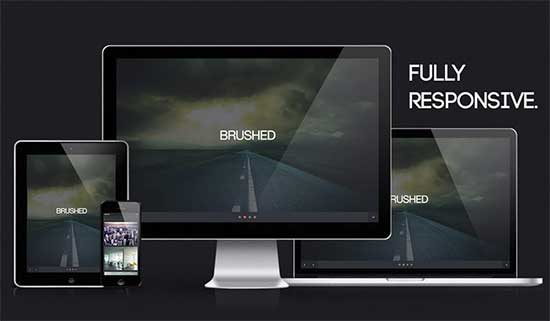 free html5 css3 templates brushed