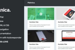 Collection of 10 Best HTML Portfolio Website Templates 5