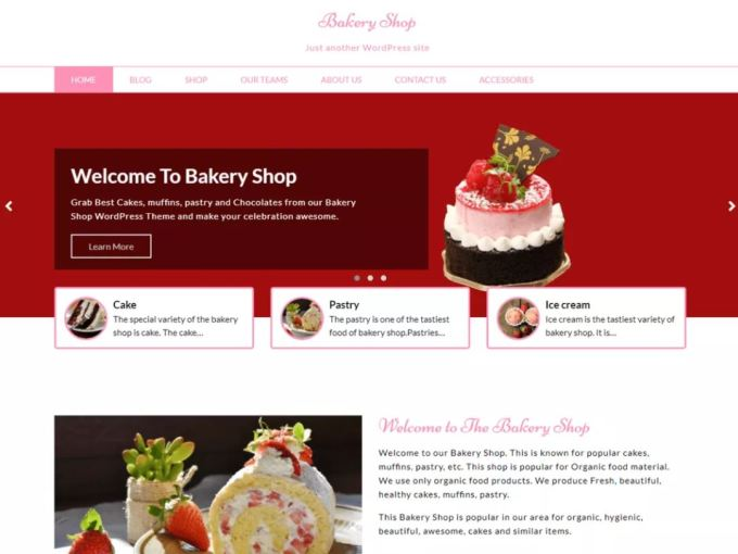 Bakery Shop - Free WordPress Theme