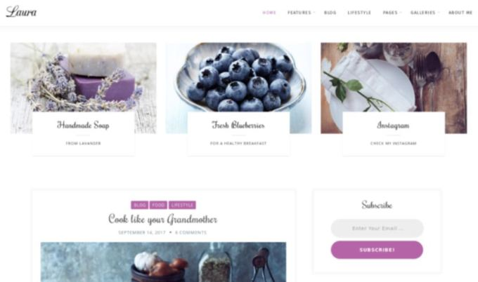 Laura WordPress Feminine Theme
