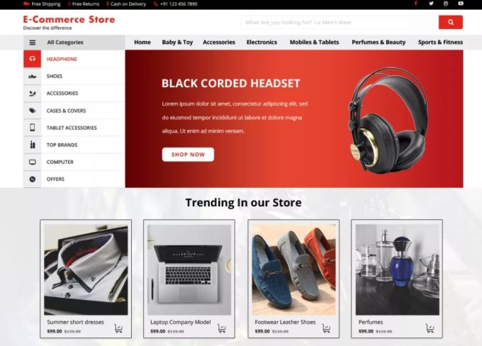 VW ecommerce shop - Free WordPress Ecommerce Theme