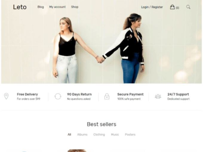 Leto - Free E-commerce WordPress themes