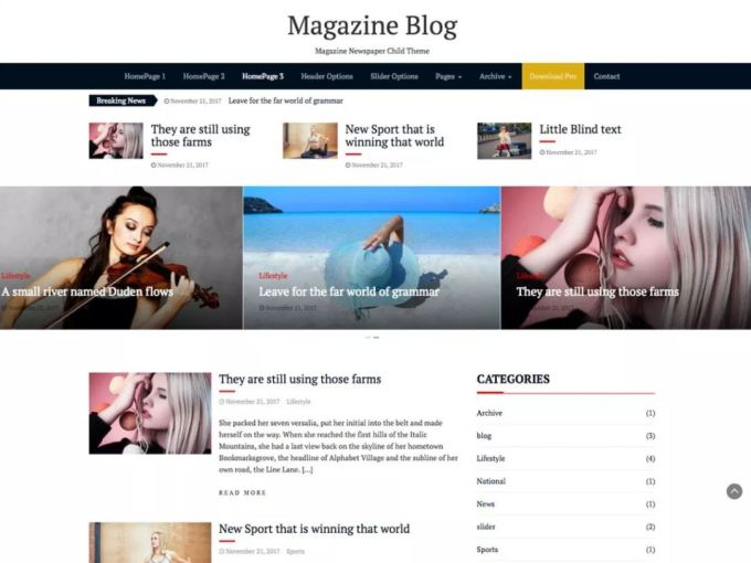magazine blog wordpress theme