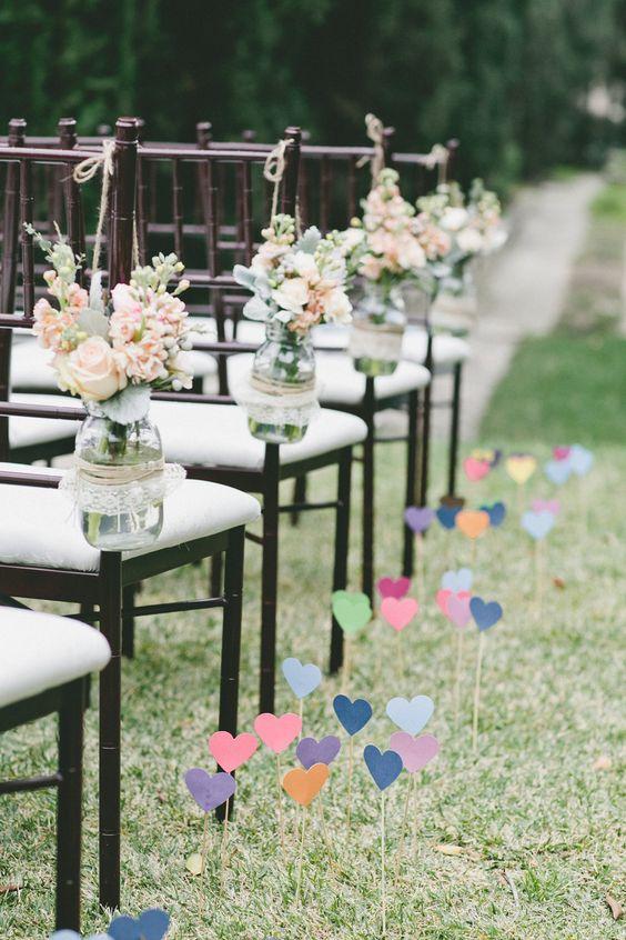 ideas para decora el pasillo de boda
