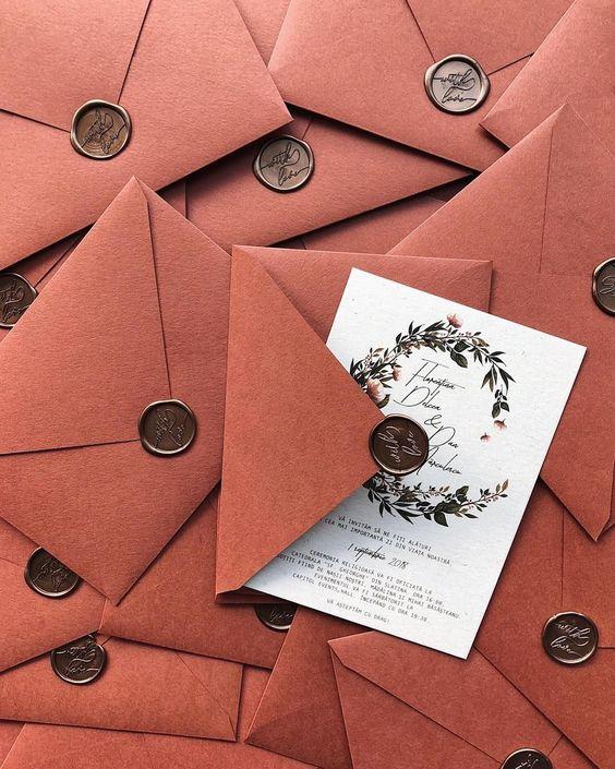 invitaciones para una boda en otoño