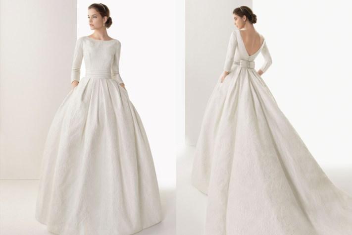 trajes de novia invierno
