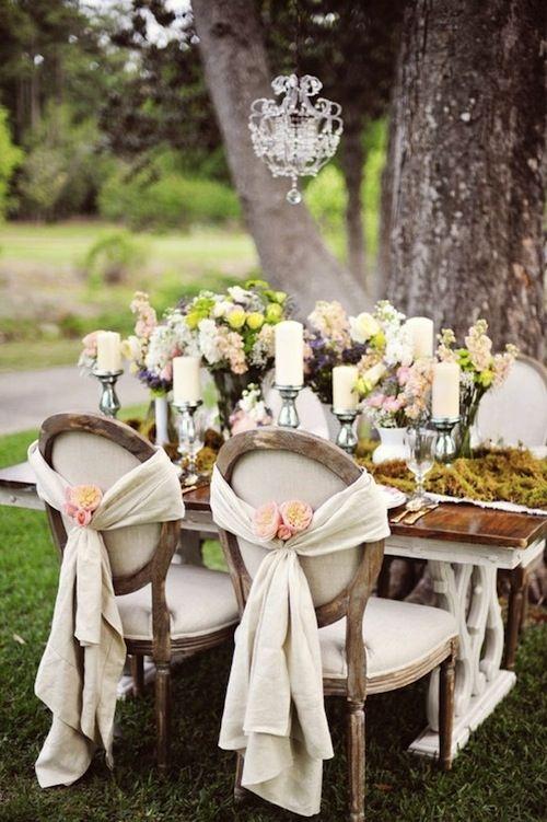 ideas boda vintage, una boda vintage en primavera
