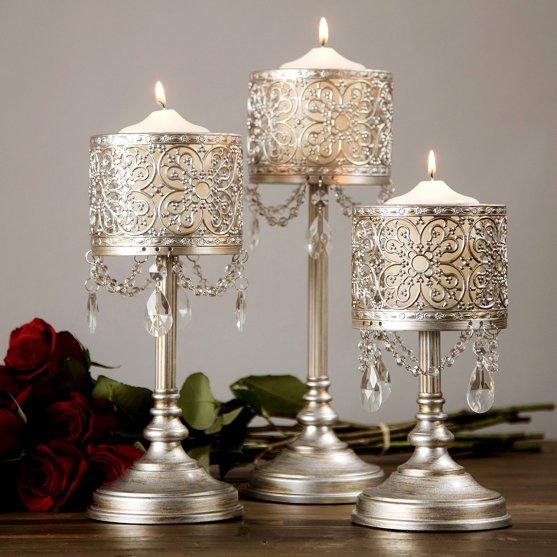 candelabros como centros de mesa