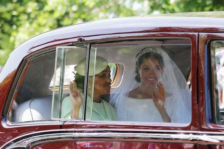 vestiod de novia de meghan merkle