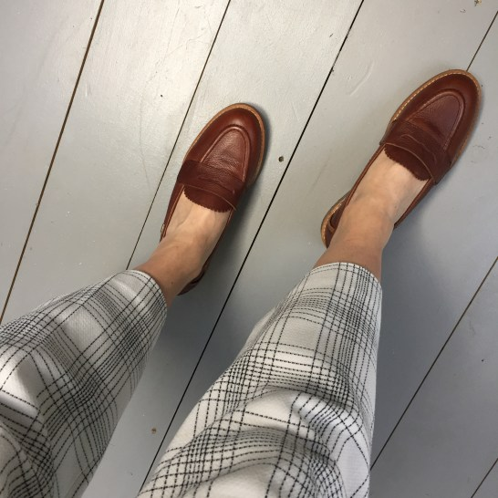 En Brogue wearing Barbour Diane loafers