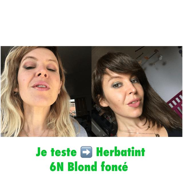 blond foncé 6N Herbatint coloration cheveux Vegan