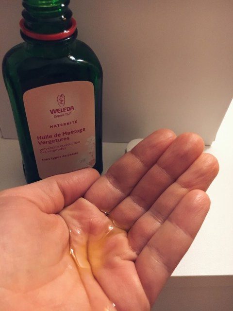 mes soins huiles anti vergetures avis grossesse weleda