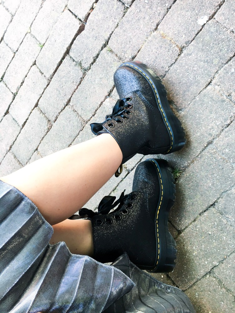 chaussures dr martens molly paillettes