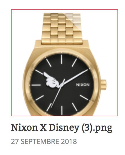 boutique disney cadeau de noel nixon x disney
