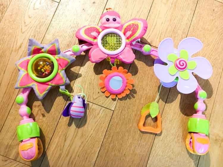 arche d'activités pour bébé butterfly stroll Tiny Love Tiny Princesse pinces universelles qui tient sur tous les supports