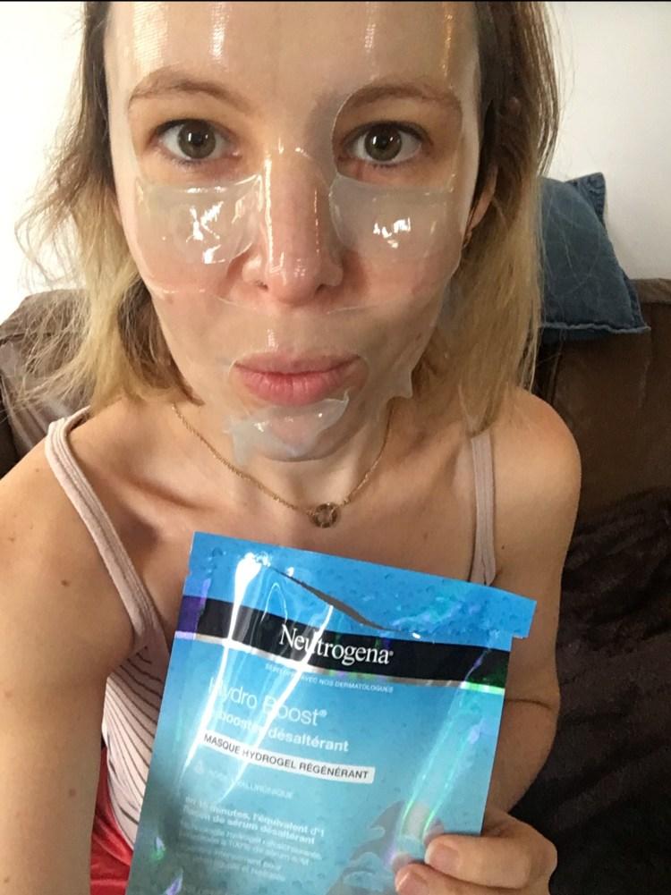 test Le masque hydrogel désaltérant Hydro Boost Neutrogena