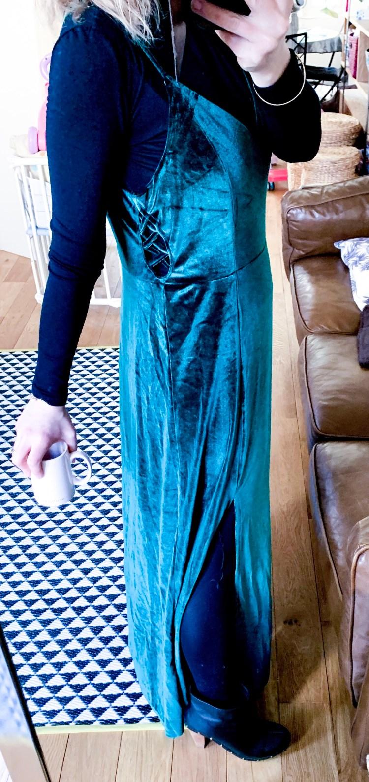 robe velours longue  dresslily
