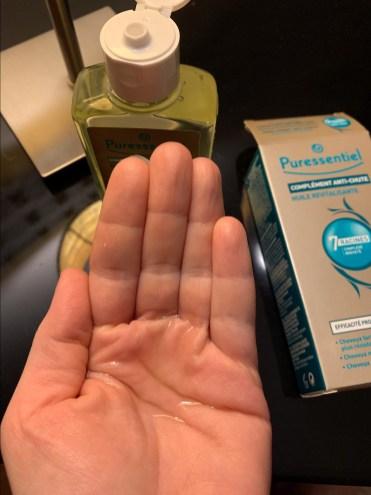 avis huile revitalisante chute cheveux Puressentiel