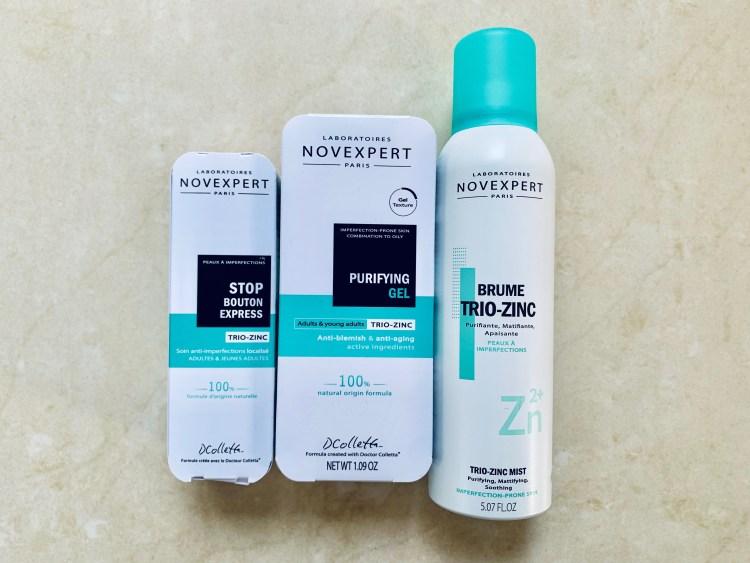 acné hormonal soins anti imperfections et anti âge avis trio-zinc Novexpert