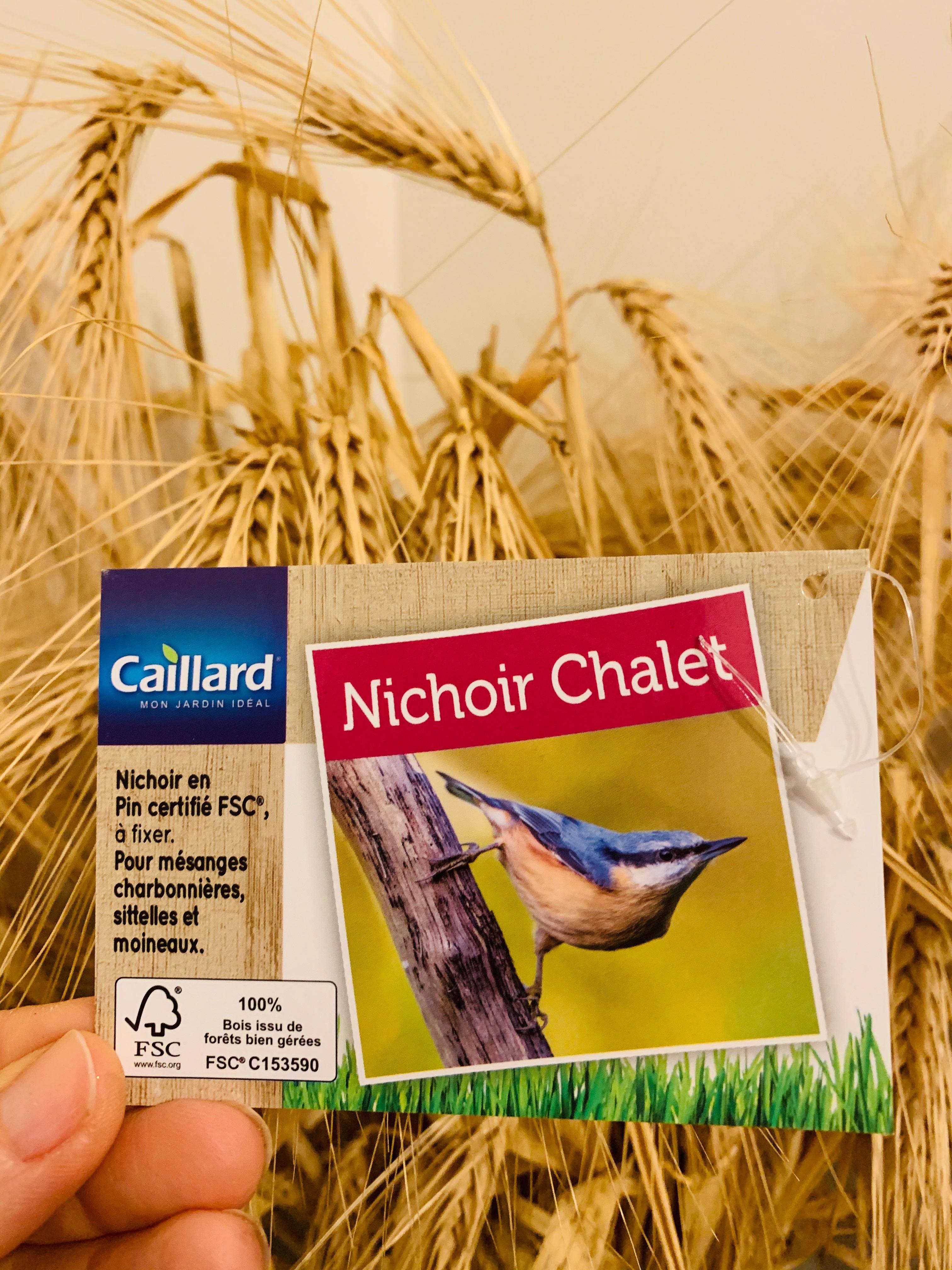 chalet nichoir oiseaux Caillard