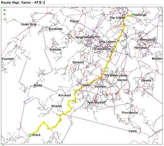 Itamo - KFIE-Z straight route