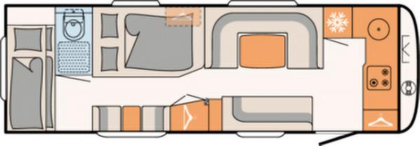 Caravanas de doble eje Dethleffs Beduin 6