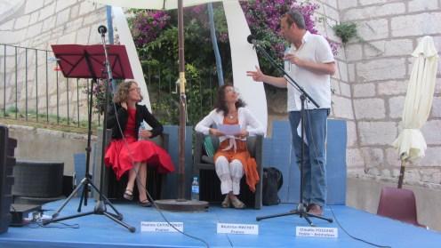Béatrice Machet, Claudio Pozzani et Pauline Catherinot